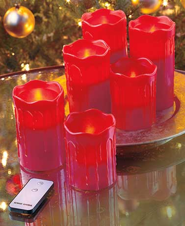 Set of 6 Remote Control LED Candles