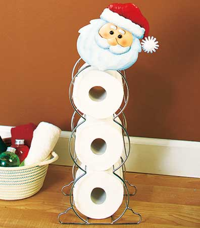 Holiday Toilet Roll Storage