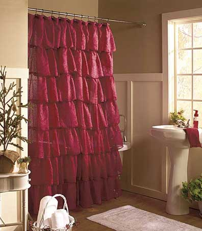 Gypsy Ruffled Shower Curtains