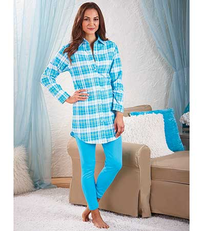 Women's Flannel and Knit Legging Sets