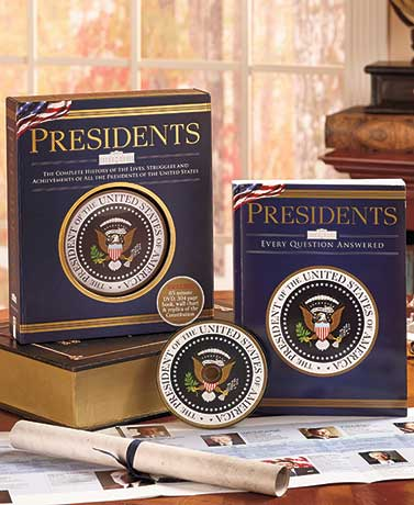 America's Presidents Gift Book and DVD Set