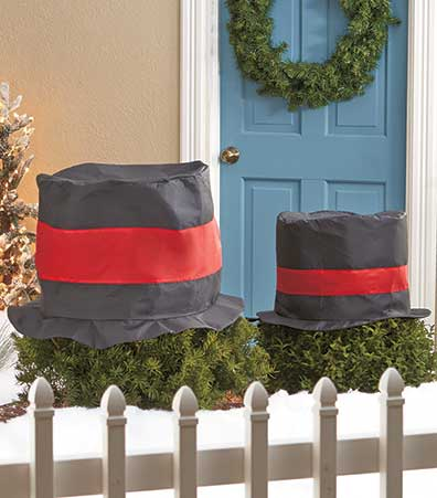 2-Pc. Outdoor Holiday Hat Decor