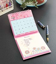 Perpetual Write-in Calendar with Notepad