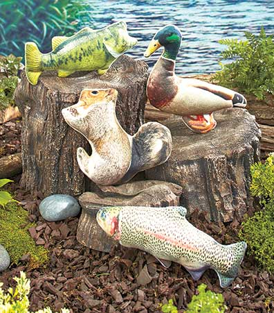 Set of 4 Photo Reel™ Wildlife Dog Toys
