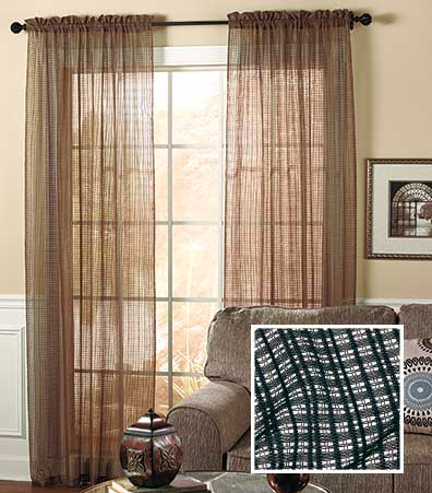 Knit Squares Curtain Panel