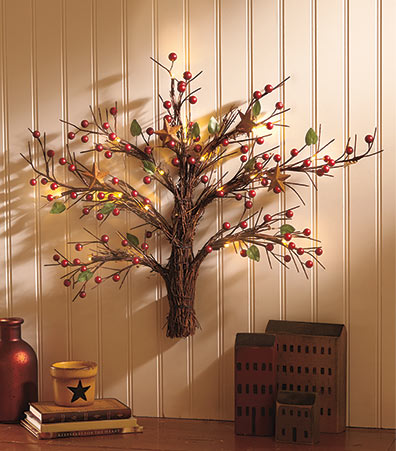 Lighted Country Wall Tree