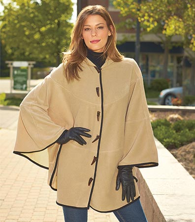 Women's Fleece Hooded Capes