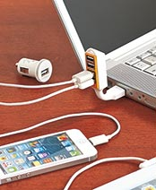 USB 4-Port Phone/Tablet Chargers