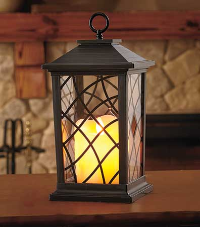LED Candle Lantern with Realistic Flame
