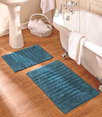 2-Pc. Jewel Tone Bath Rug Sets