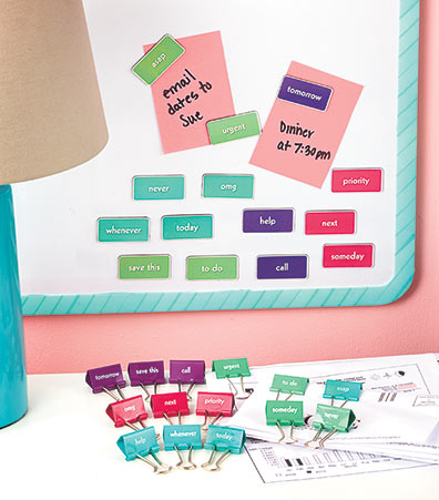 28-Pc. Message Binder Clip and Magnet Sets