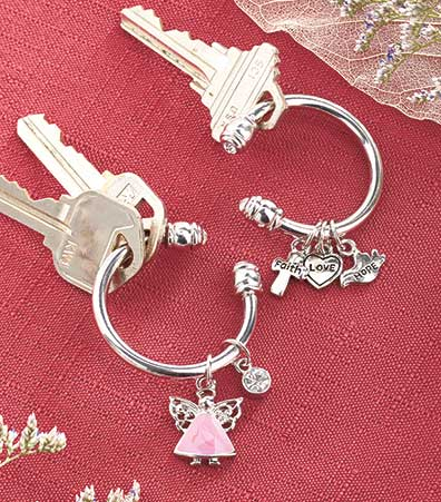 Set of 2 Charm Key Rings