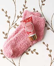 Cozy Sock and Lotion Gift-Boxed Sets - Pomegranate Vanilla