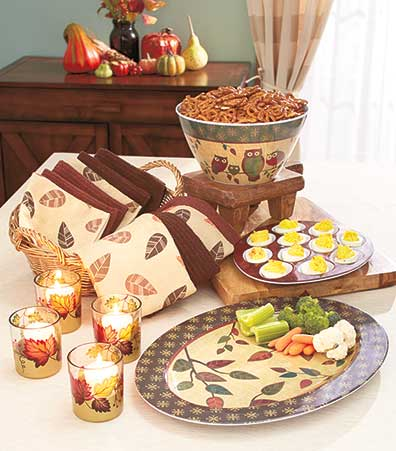 Autumn Leaves Tabletop Collection