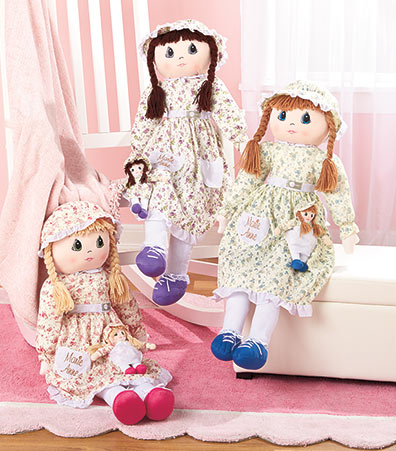 Marie Anne Rag Doll with Baby Doll