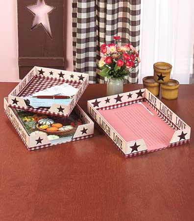 Sets of 3 Nested Letter Trays