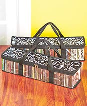 Sets of 2 Media Storage Bags - Damask CD Bags
