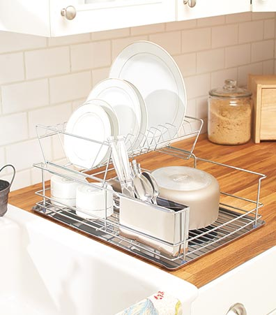 Stainless Steel 2-Tier Dish Rack