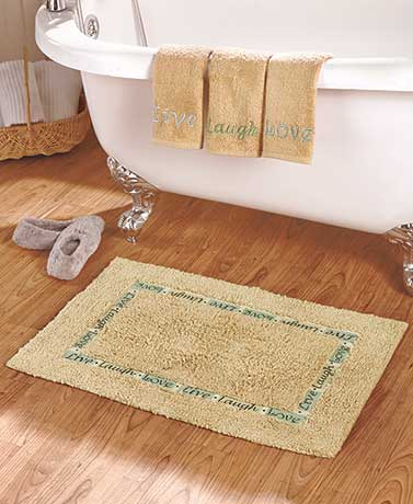 Inspirational Rugs or 3-Pc. Towel Sets