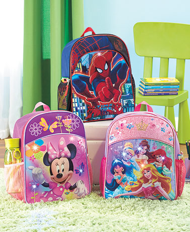 Licensed Light-Up Backpacks