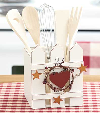 6-Pc. Picket Fence Utensil Sets