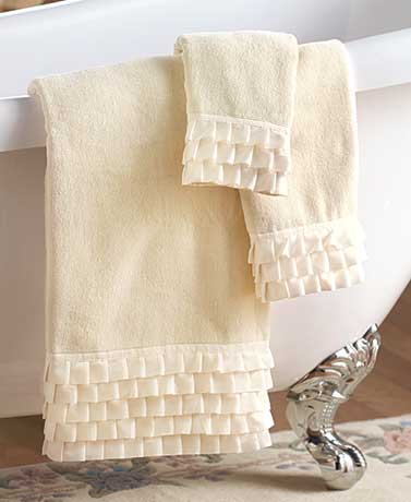 Ruffled Bathroom Towels