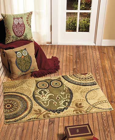 Woodsy Owl Pillow or Rug