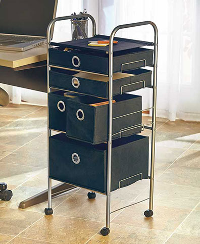 Rolling 5-Drawer Storage Cart