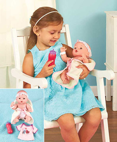 Newborn Doll and Layette Set