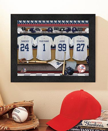 Personalized MLB™ Locker Room Prints