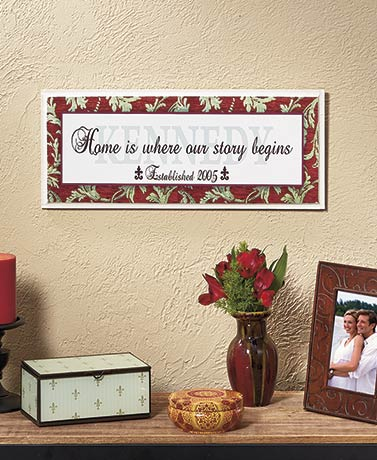 Personalized Family Wall Plaques