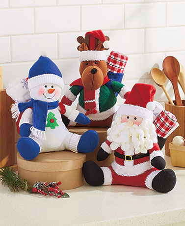 3-Pc. Holiday Plush Gift Towel Sets