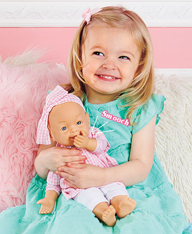 "13"" Interactive Baby Kiss Doll"