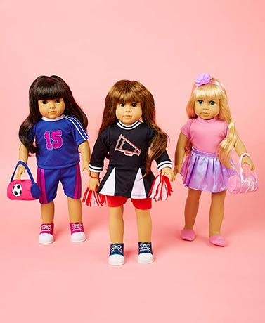 "Set of 3 Activity Outfits for 18"" Dolls"