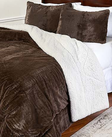 Luxury Plush Reversible Comforter Sets