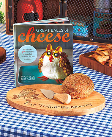 Cheese Ball Cookbook or Cutting Board and Knife