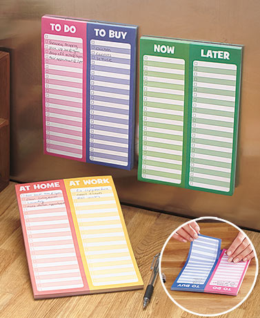 Set of 3 Magnetic List Pads