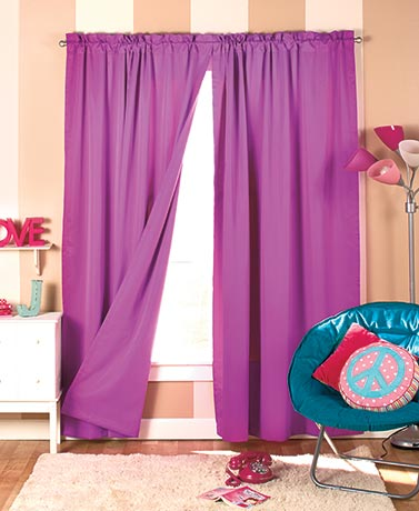 Brightly Colored Blackout Curtain Panel