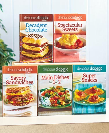 Gluten-Free or Diabetic 5-Cookbook Sets