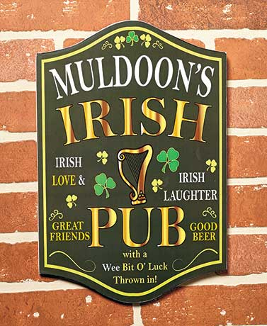 Personalized Irish Plaques