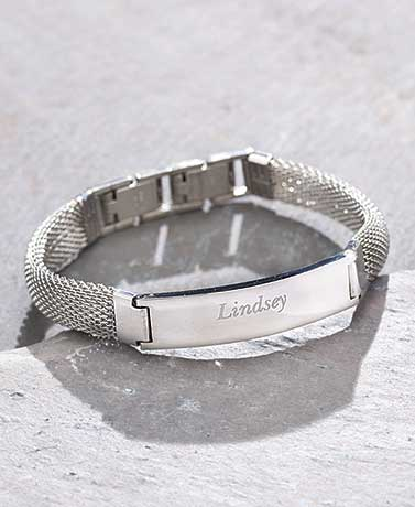 Personalized Mesh Name Bracelets