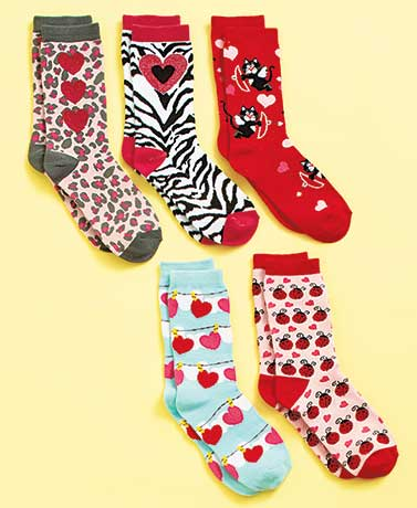 5-Pair Women's Holiday Sock Sets