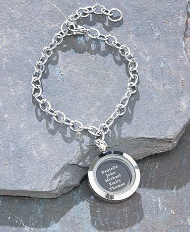 Personalized Round Link Name Bracelets