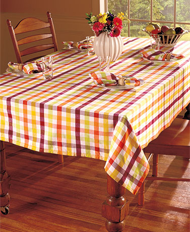 Bright Checkered Table Linens or Swag