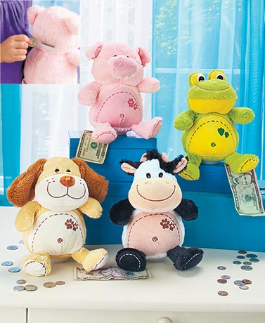Cute & Cuddly Coin Banks with Sound