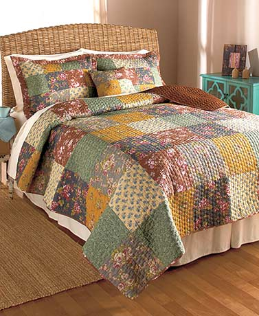 Quilted Rosewood Bedding or Valance