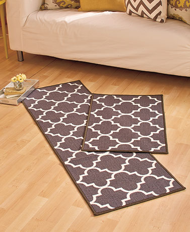 Lattice Print Accent Rugs or Runners