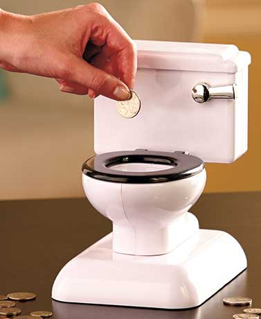 Toilet Coin Bank with Sound