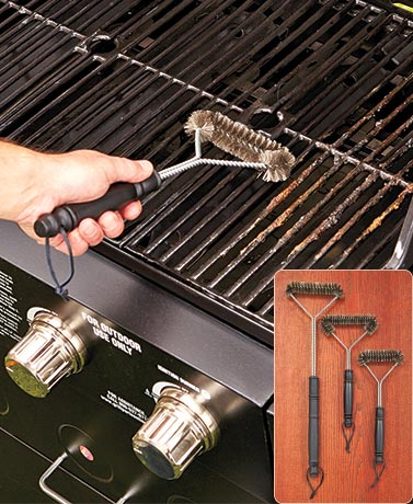 Set of 3 Grill Brushes