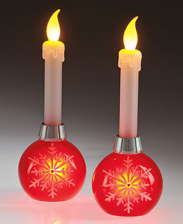 Sets of 2 LED Candles with Timer